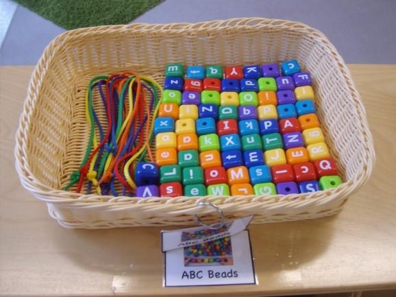 abc beads basket